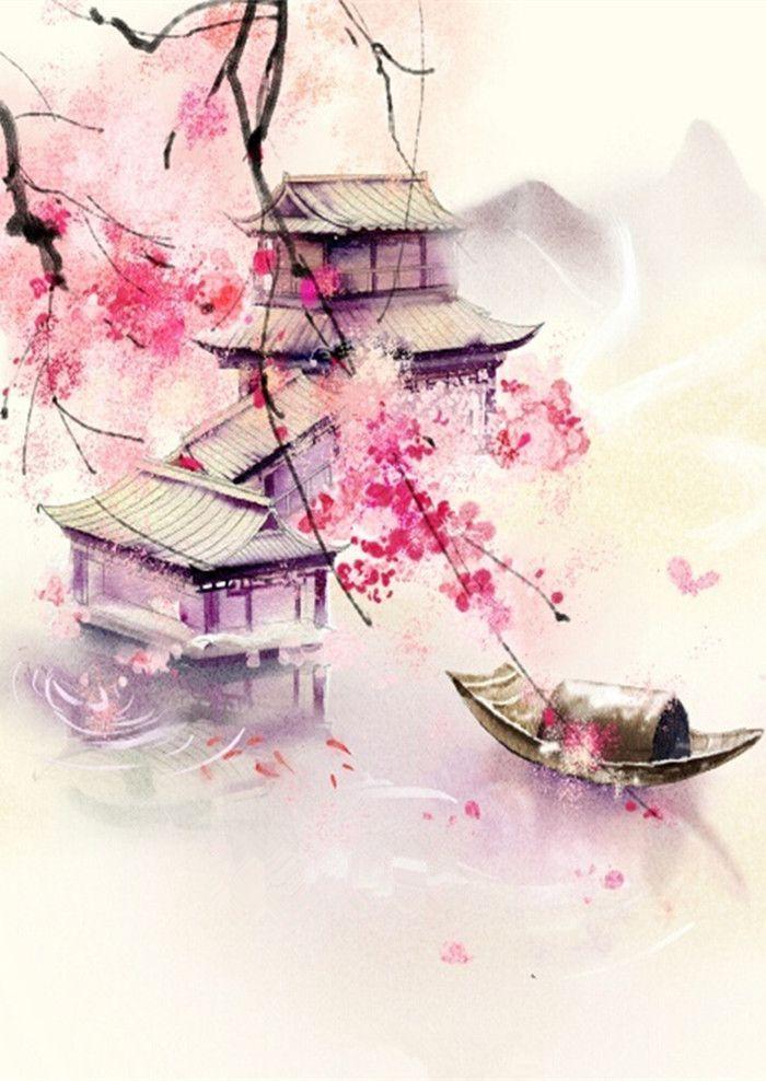 Chinese Watercolor Chinese Artwork Japanese Watercolor Japan Art