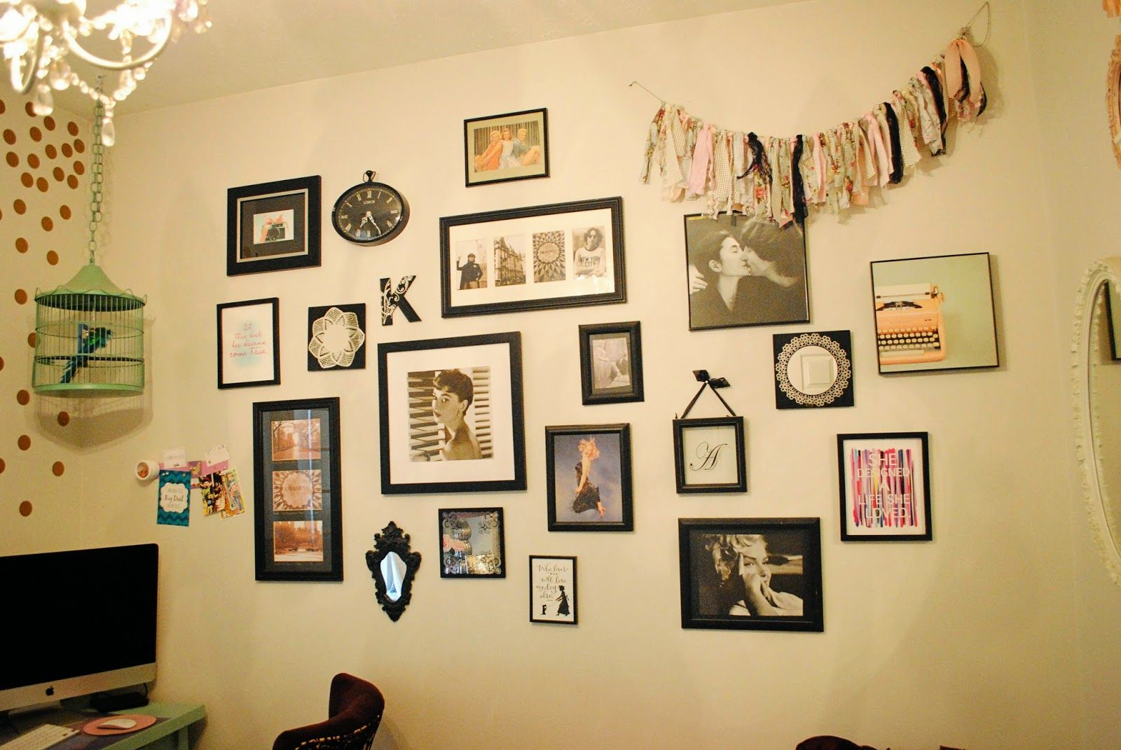 Studio Makeover: Vintage Wall Collage | Home Decor | Pinterest ...