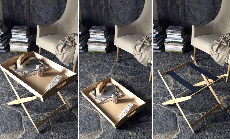 Tavolino vassoio ~ Tavolino vassoio in faggio mate by de padova design achille
