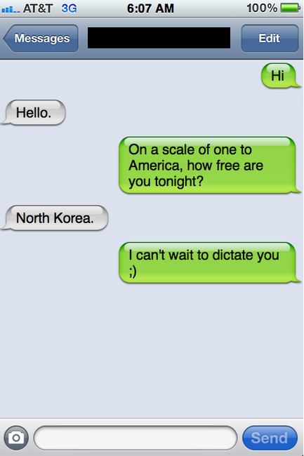Message pick up lines