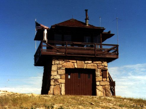 Tower cabin user experience the durango and the buffalo for Fire lookout tower plans