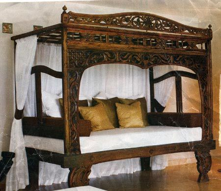 Indonesian Bed Frames Indonesian Beds Platform Canopy 4 Poster Indonesian Furniture Canopy Bed Frame Indonesian Decor