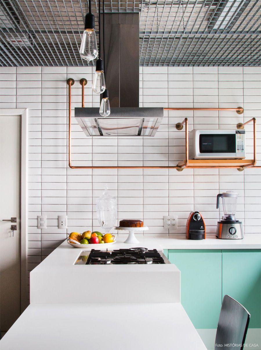 Inspira O Industrial Na Cozinha Decora O Cozinha Industrial  ~ Banqueta Inox Para Cozinha Acozinha Com Cooktop Branco