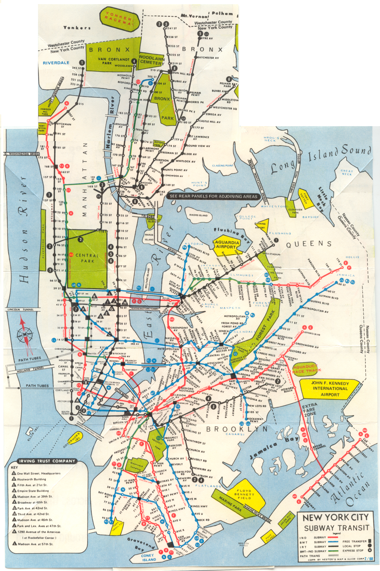 underground new york map 1968 New York System Map Transit Map New York Subway Nyc Subway