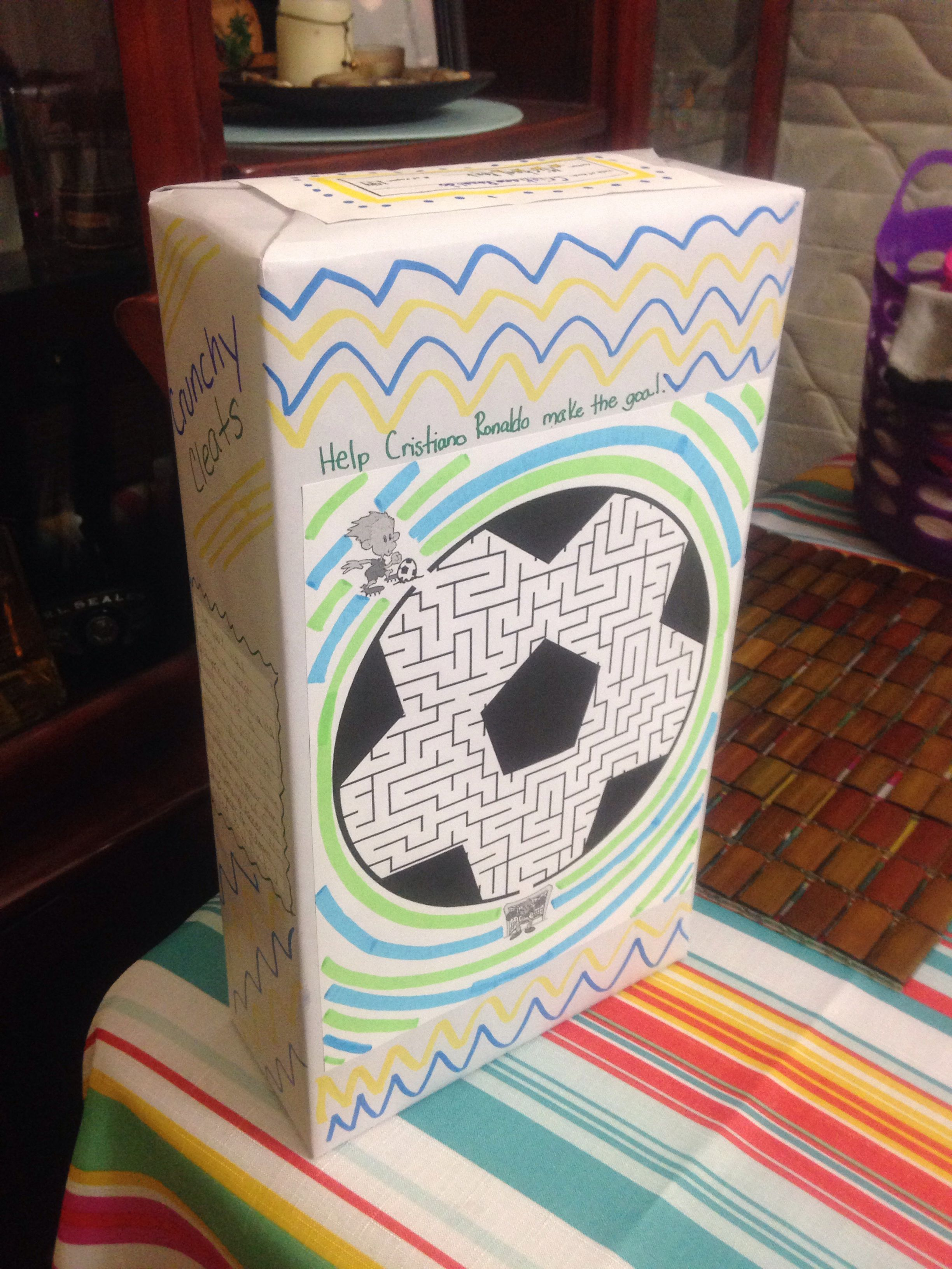 Book report cereal box project my projects pinterest for Cereal box project for school