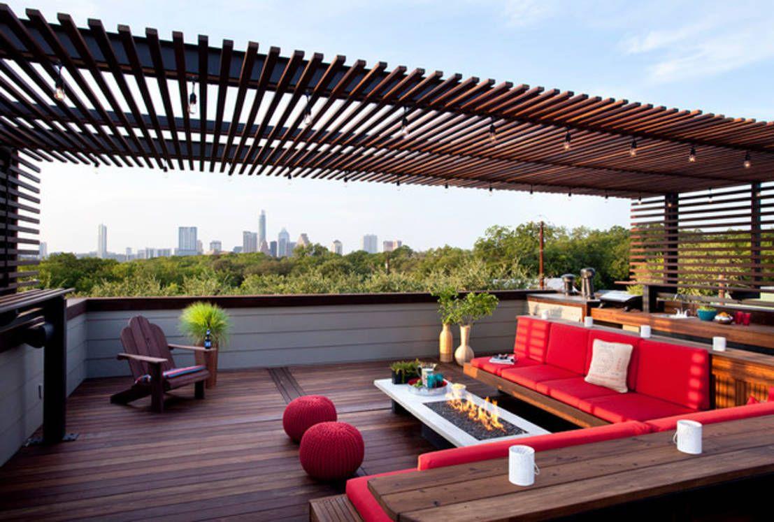 12 ideas para tener una terraza moderna en la azotea for Plantas modernas para jardin