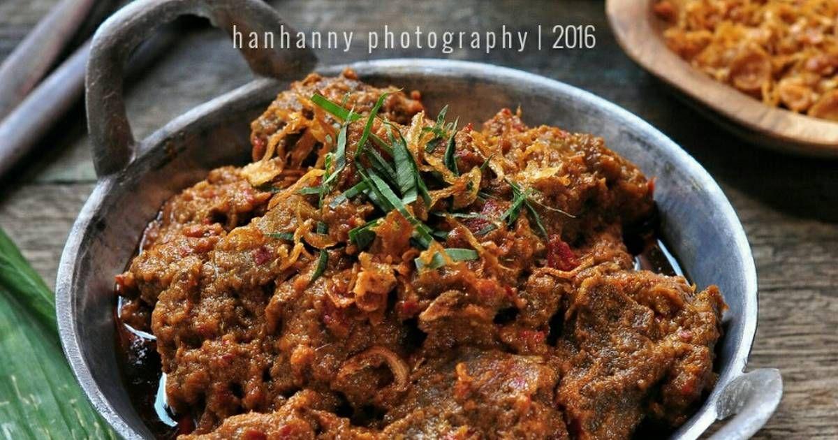 Resep Rendang Padang Asli Hitam Kering Minang Pariaman Bumbu Balado Resep Makanan Resep Masakan Indonesia