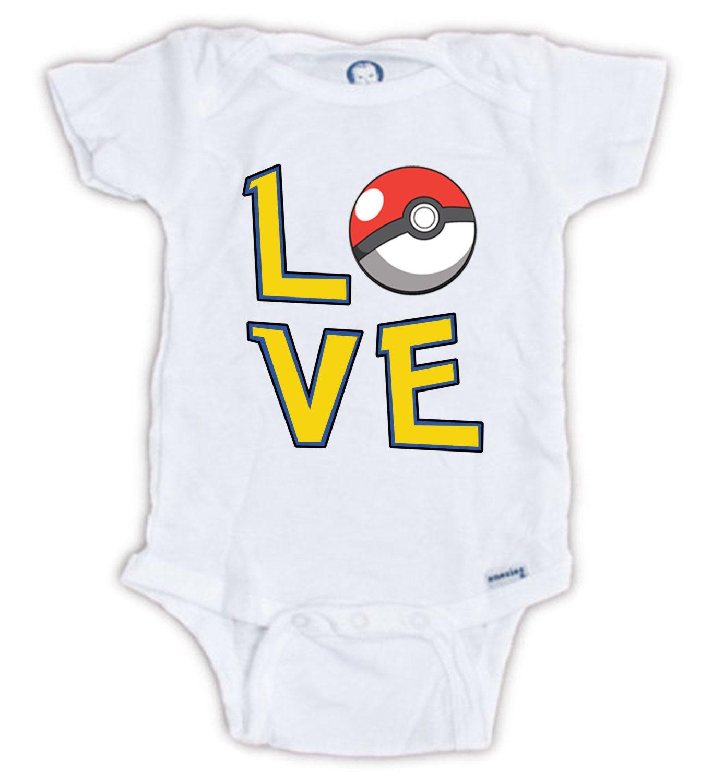 POKEMON LOVE Baby esie Pokemon Baby Bodysuit Love Pokemon Shirt