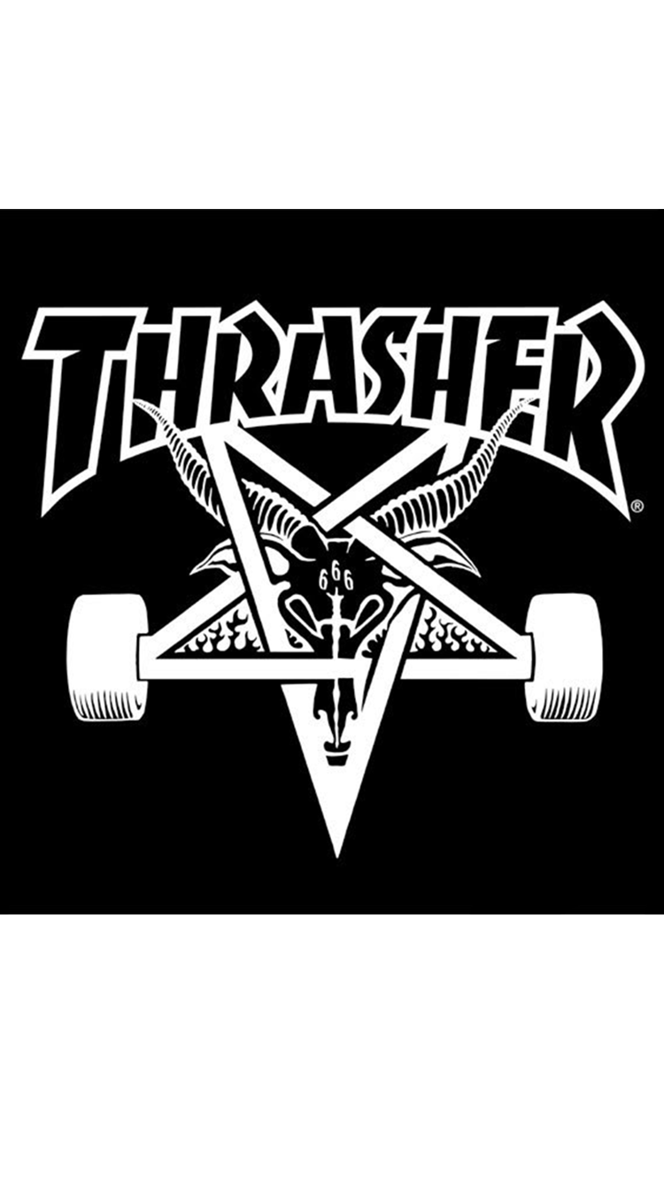 A Pretty Bad Ass Sticker In The Shape Of Classic Skategoat By Thrasher