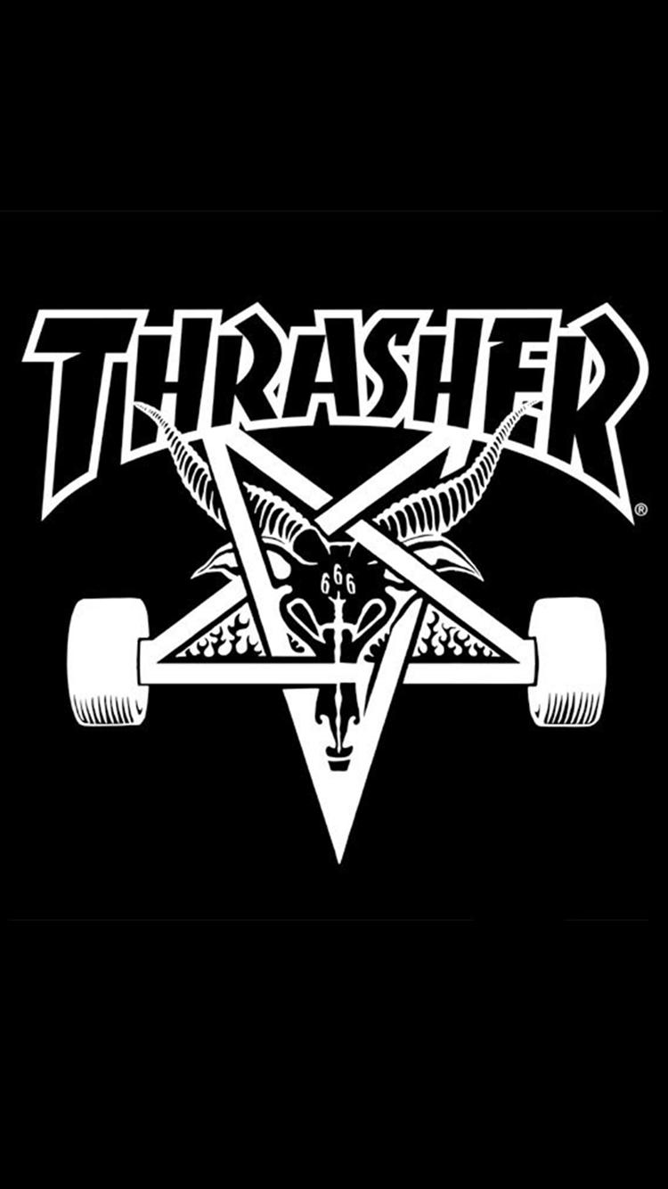 Thrasher Logo iPhone Wallpaper Profundo