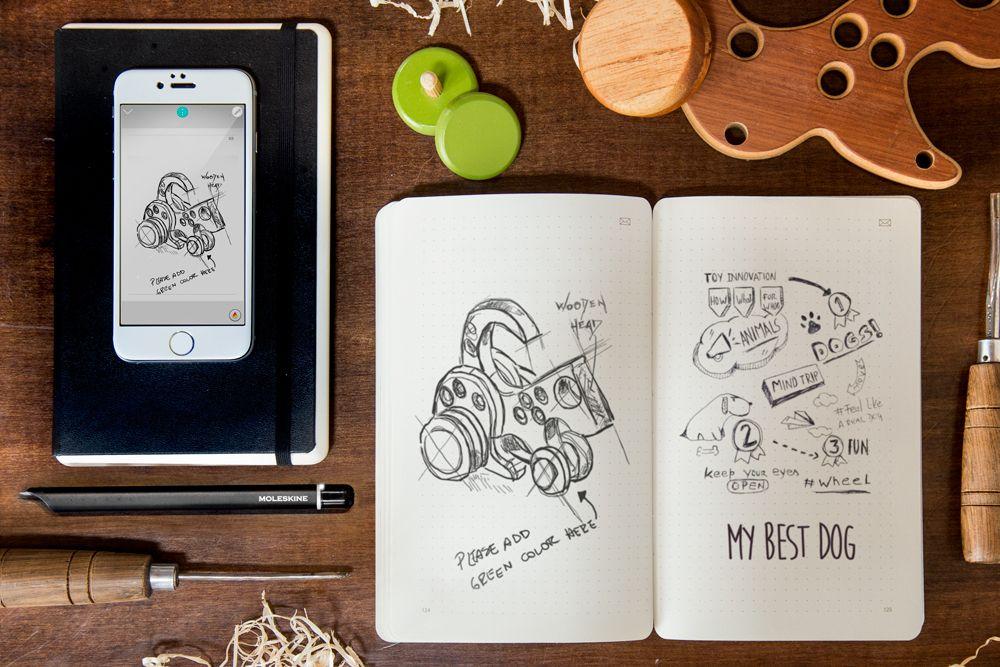 """Moleskine sincroniza desenhos analógicos e digitais com seu """"Smart Writing Set"""""""