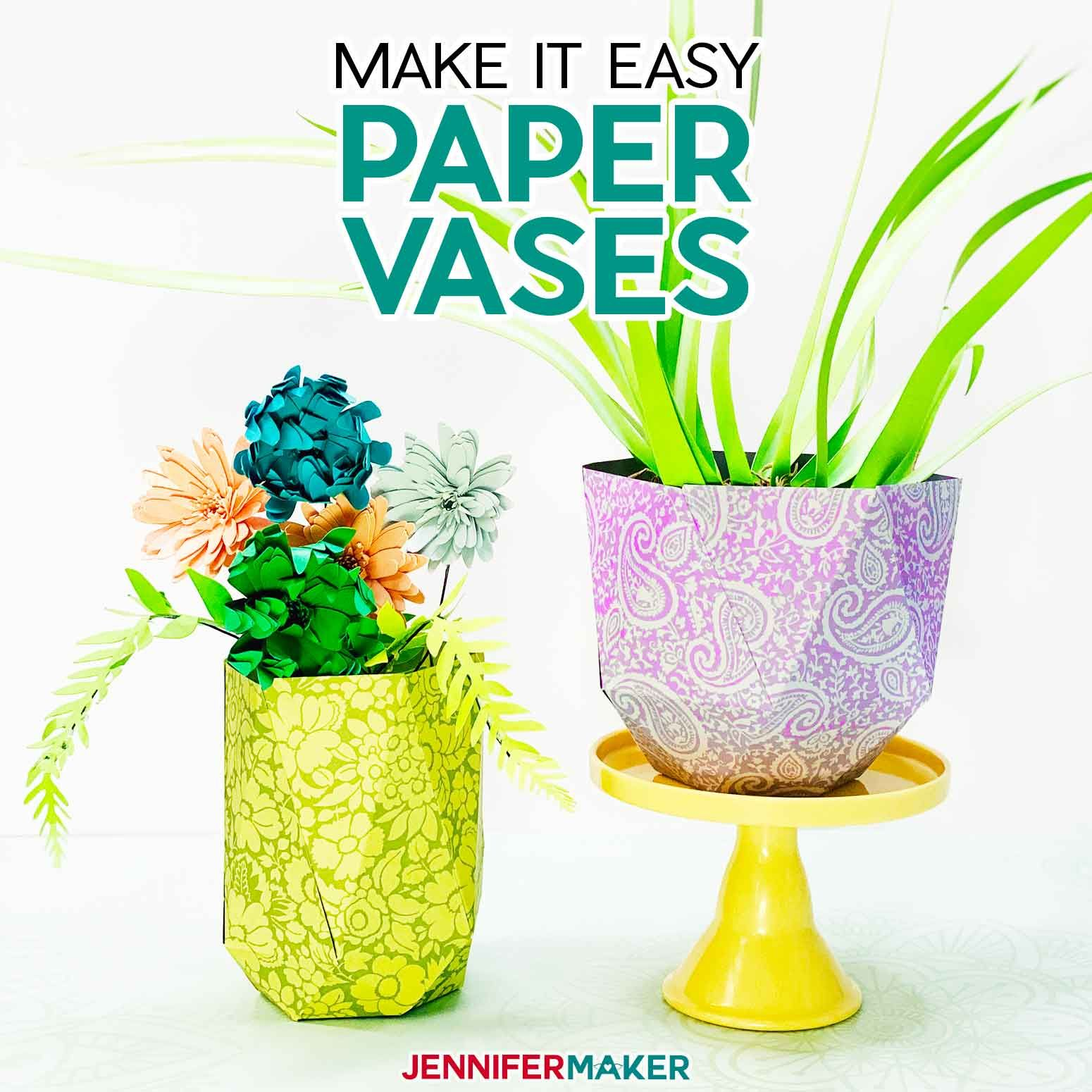 Easy Paper Vases — Decorate Your Desk and Shelves in 2020