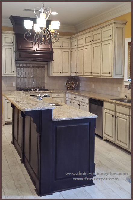 fusion™ mineral paint meets kitchen island! fusion™ chocolate