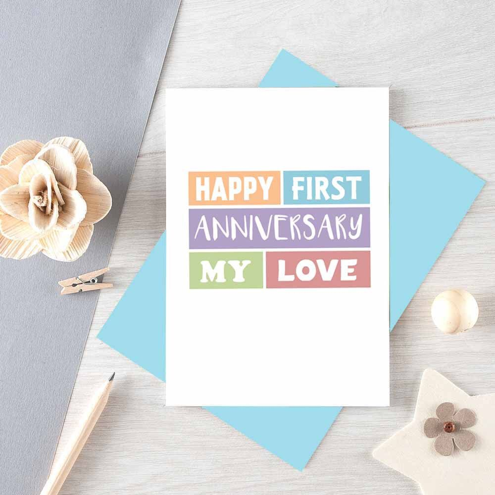 First Anniversary Card Se0183a6 Anniversary Cards For Wife Birthday Cards For Girlfriend Birthday Cards For Friends