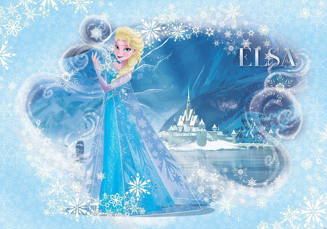 Disney Frozen Elsa Light Blue Wallpaper Mural: Amazon.de: Küche ...