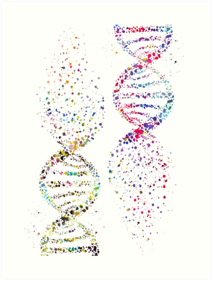 Abstract Dna Helix Art