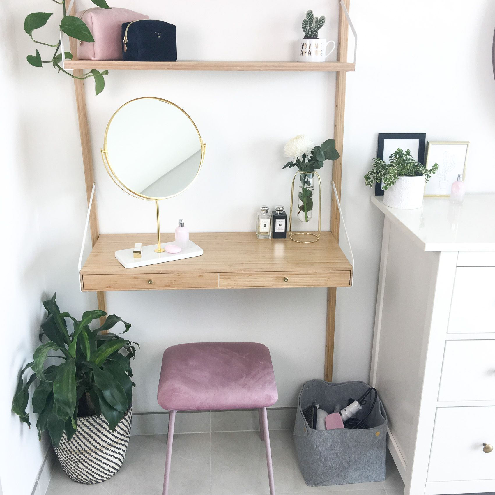 My Updated Dressing Table | Ikea dressing table, Diy ...
