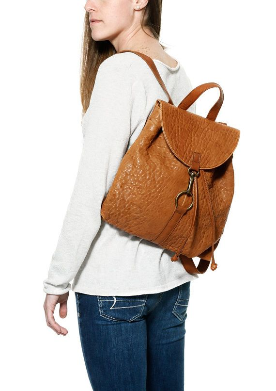 Brown leather backpack camel leather backpack by JUANJOgallery ...