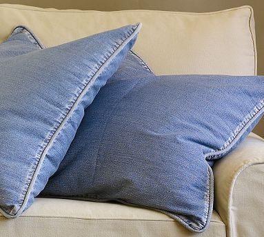 Pottery Barn Denim Upholstery Pottery Barn Pillows