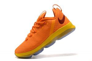 f4ab8d7f6a486 Mens Nike LeBron James 14 Low Knight Yellow Basketball Shoes Lebron 14 Shoes
