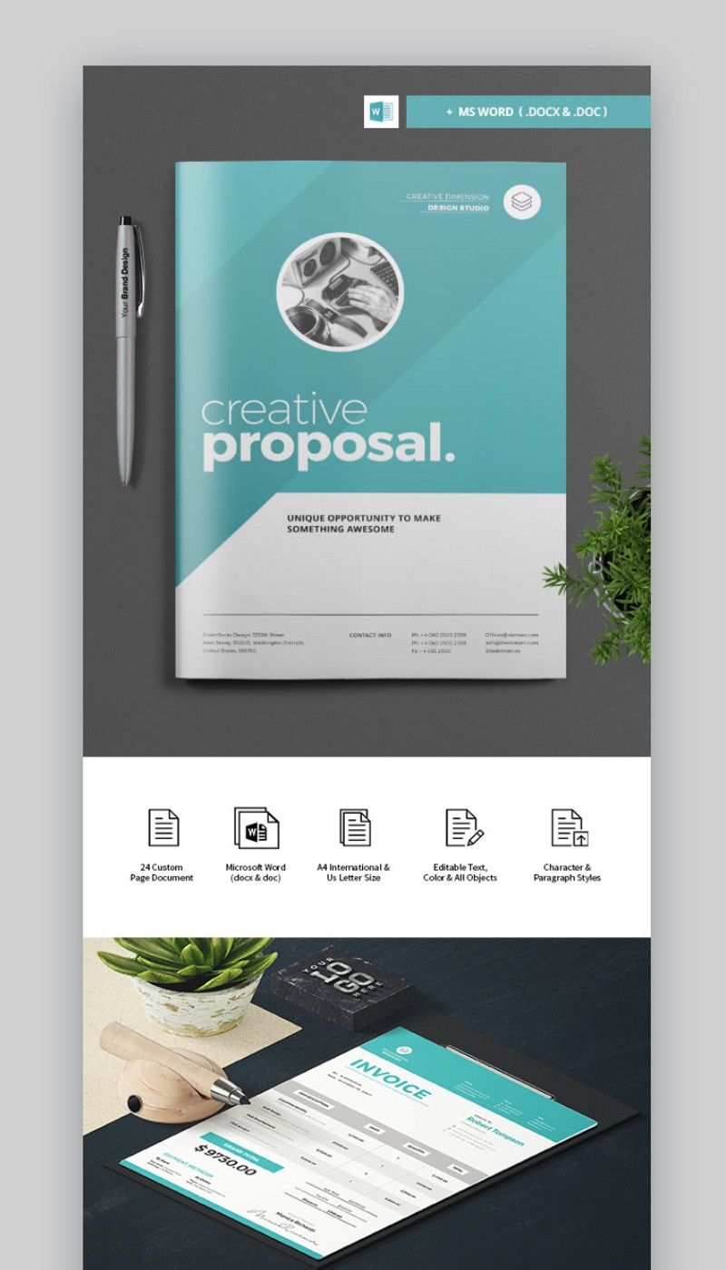 Professional Business Proposal Template With Cover Design Free Business Proposal Template Business Proposal Template Proposal Templates