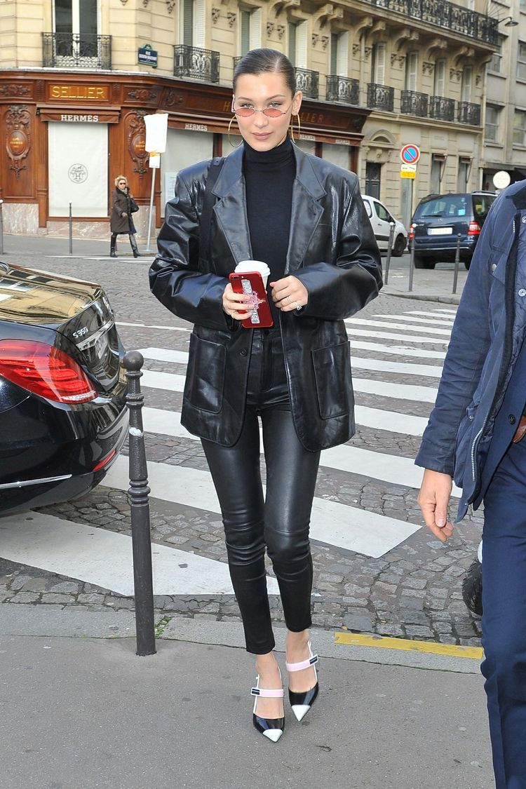 Bella Hadid Leather Outfit Bella Hadid Outfits Bella Hadid Street Style Fashion [ 1125 x 750 Pixel ]