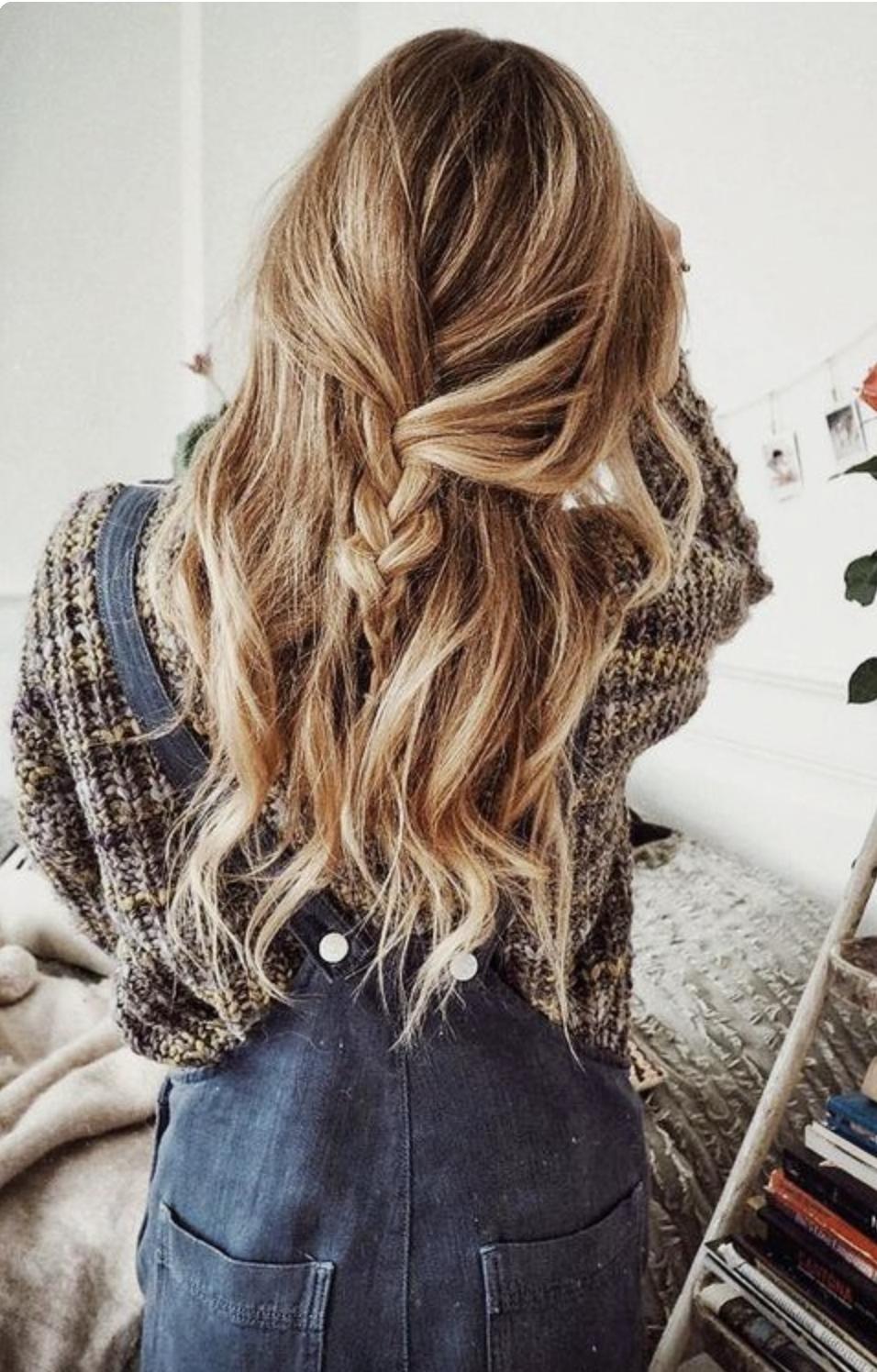 x (long braided half up)