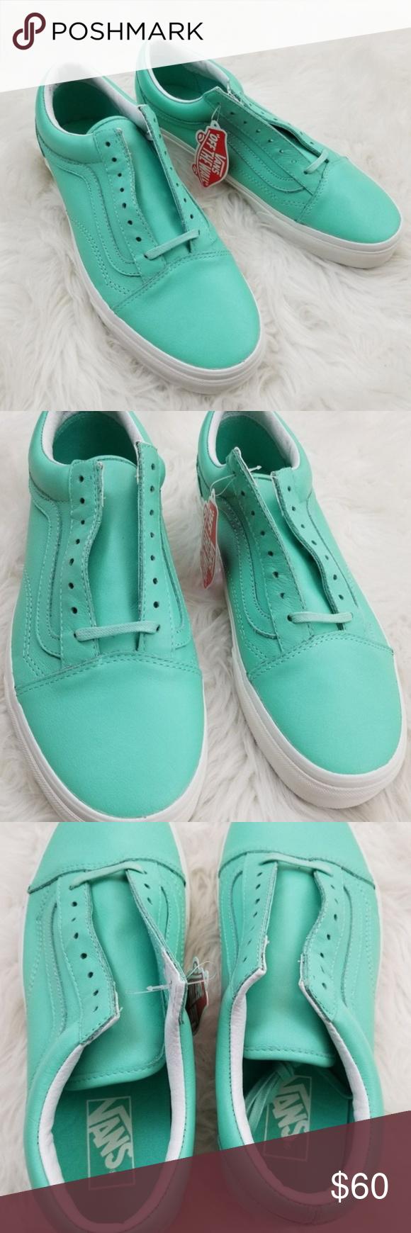 ac10b3f4c9 VANS Old Skool Pastel Green Leather Shoes W 10 Brand new in box. Vans Old