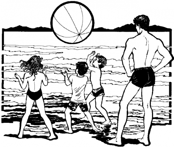 Explore Coloring Pages For Kids Beach Fun And More
