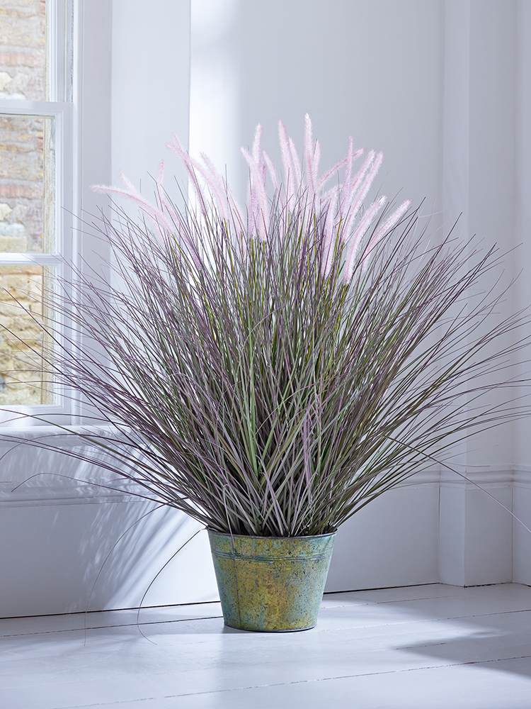 NEW Faux Potted Ornamental Grass