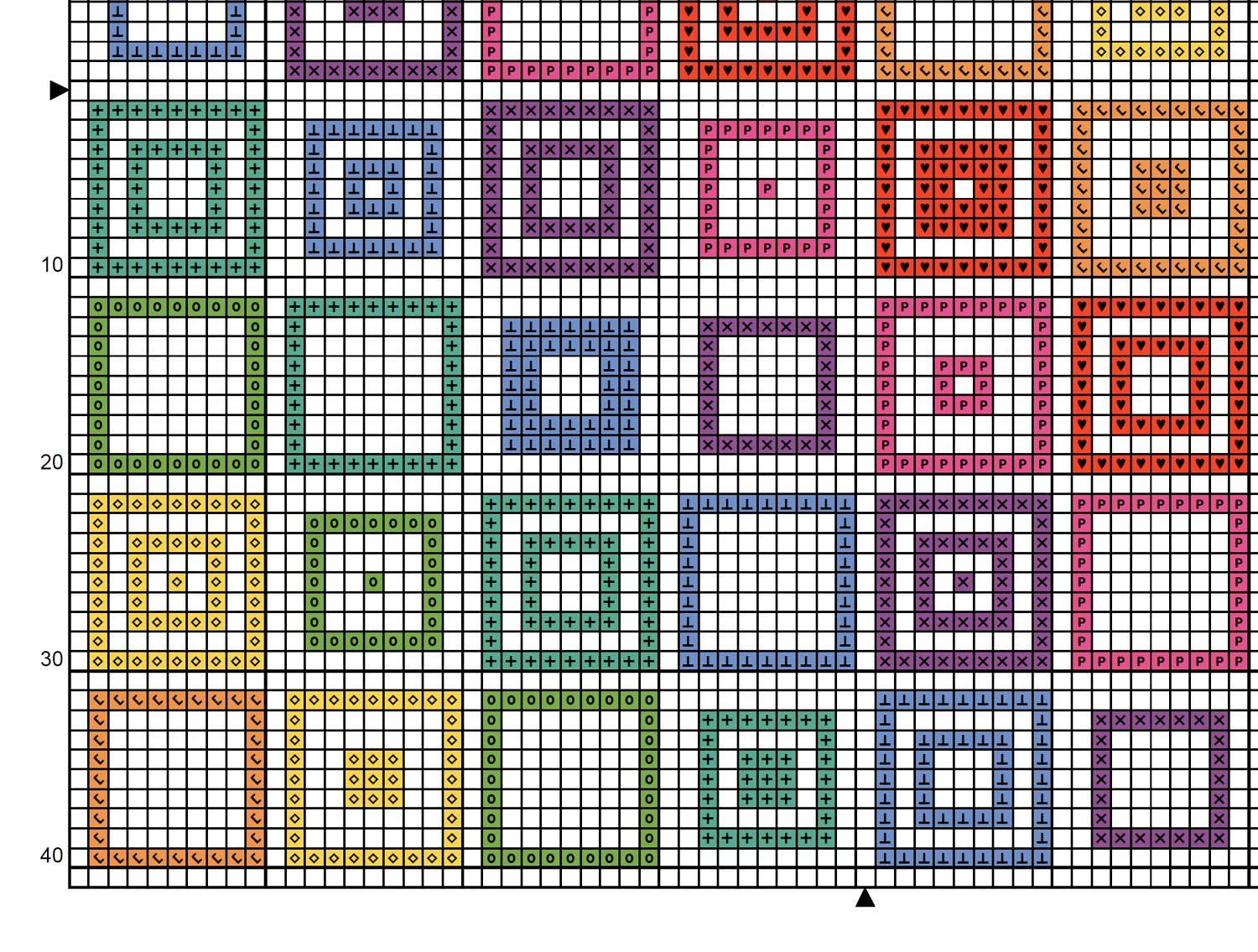 Pattern geometric squares cross stitch chart quick and easy pattern geometric squares cross stitch chart quick and easy rainbow modern cross stitch pdf repeating design with bright dmc colours geenschuldenfo Images