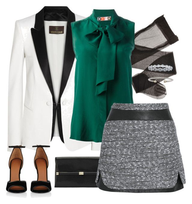 """Semi-Formal"" by americanhorse ❤ liked on Polyvore featuring Roberto Cavalli, Diane Von Furstenberg, MSGM, Givenchy, Harry Winston, David Yurman, women's clothing, women, female and woman"