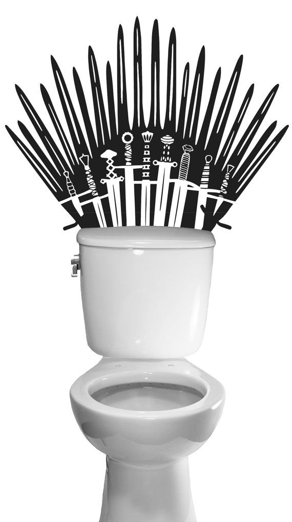 Iron Throne Game Of Thrones Decal Toilet Bathroom Wall Sticker Se