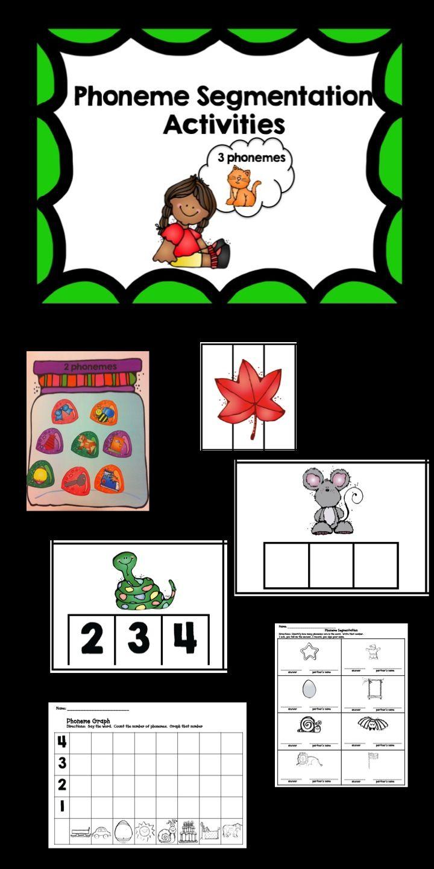 Phoneme Segmentation Activities Kindergarten Literacy