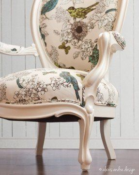 Antique Victorian Round Back Chair Classic Unexpected Cream Vintage Upholstered Chairs Upholstered Furniture Furniture