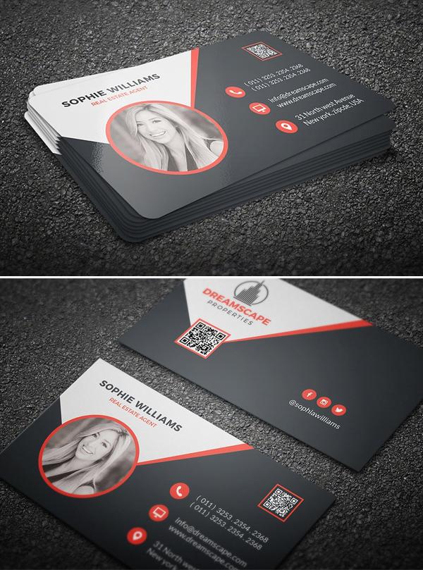 Black Real Estate Business Card Professional Business Card Design Business Card Fonts Business Cards Online