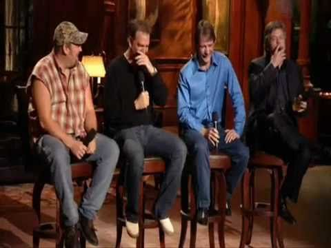 Put Up This Vid Cause All Four If These Guys Are Great Stand Up Acts Larry The Cable Guy Bill Engvall Jeff Foxworthy A Funny Comedy The Cable Guy Ron White