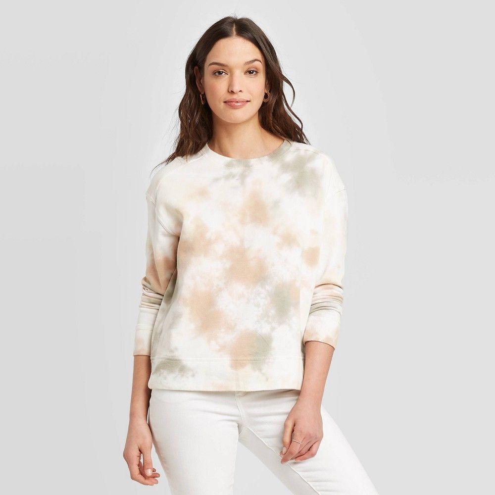 Women S Tie Dye Sweatshirt Universal Thread Tan White Xxl Tie Dye Sweatshirt Womens Sweatshirts Hoods Sweatshirts Women [ 1000 x 1000 Pixel ]