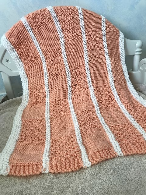 Ravelry Irish Moss Baby Blocks Baby Blanket Knit Pattern Baby