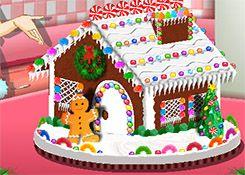 Juego Casita De Jengibre Juegos De Cocina Con Sara Gratis Online Gingerbread House Gingerbread Decorations Gingerbread