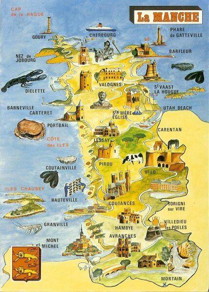 Carte Touristique Du Departement De La Manche 50 Carte Touristique Iles Chausey Touriste