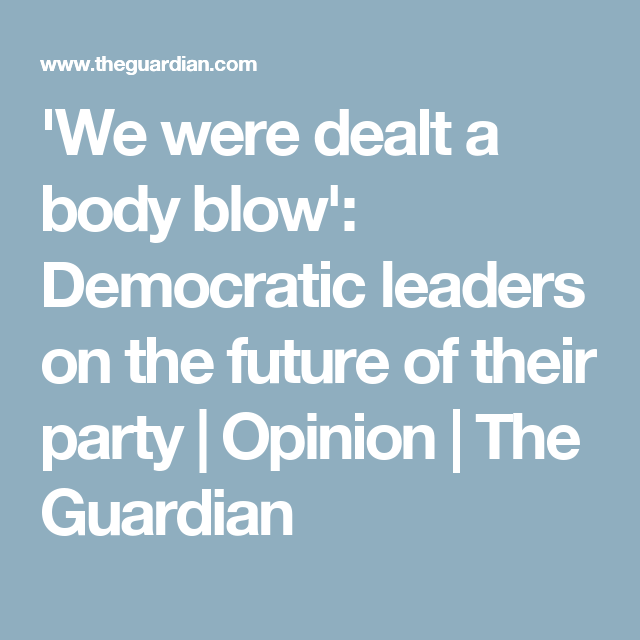 'We were dealt a body blow': Democratic leaders on the future of their party | Opinion | The Guardian
