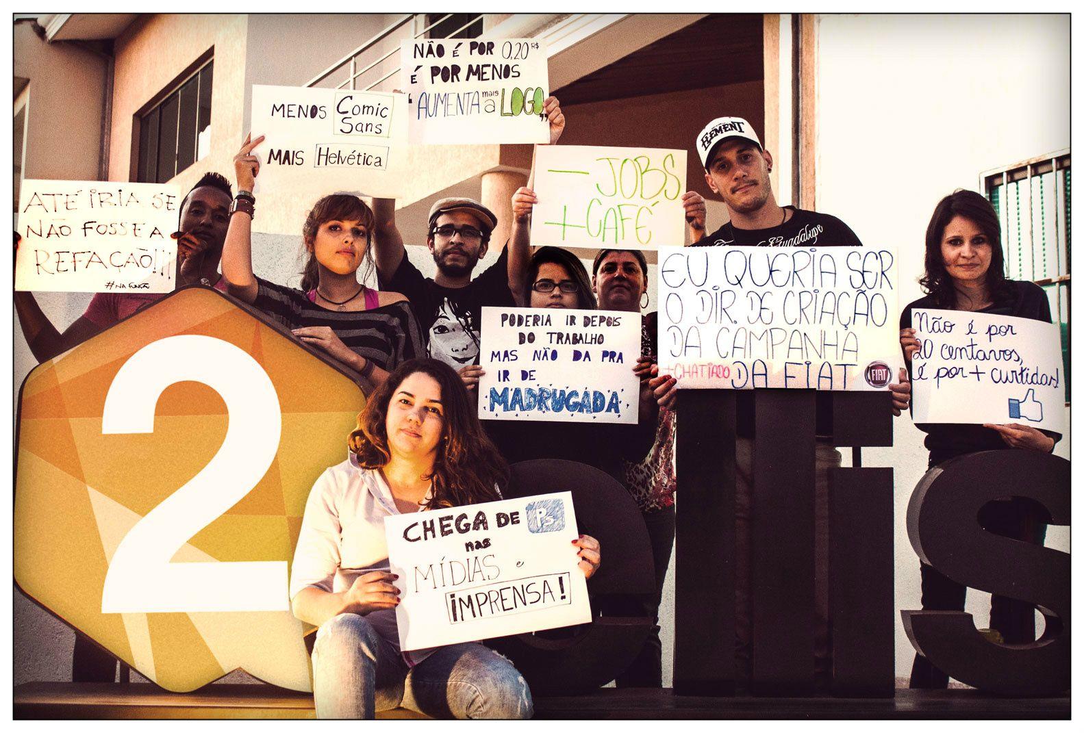 :manifestações- publicidade: #2ellisComunicação