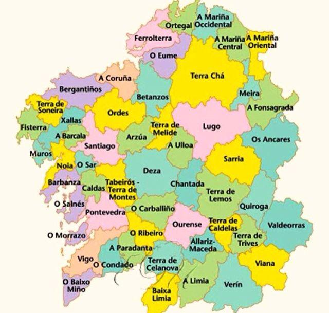 Mapa De Galicia Pueblos.Galicia Mapa De Galicia Mapa De Espana Y Mapas