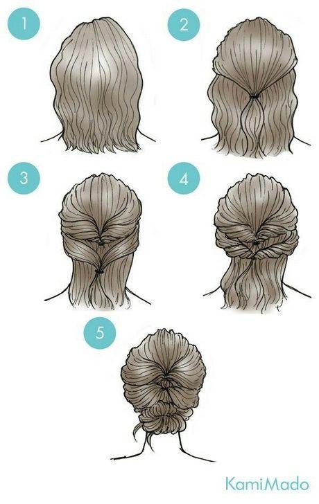 Einfache Alltagsfrisuren Fur Kurzes Haar Flechtfrisuren Dunnehaare Festlichefrisuren Selbermachen Badhair S Short Hair Styles Hair Styles Short Hair Updo