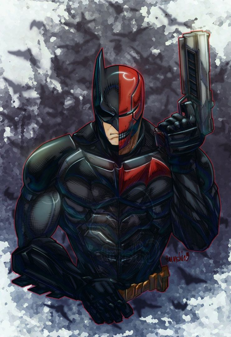Face Off Batman X Redhood By Emmshin Batman Canvas Batman Red Hood Batman