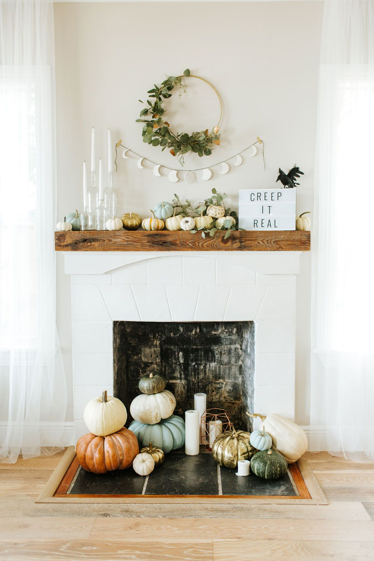 Your Halloween Mantel 3 Ways Modern, Glam Goth  Classic Mantels - fall and halloween decorations