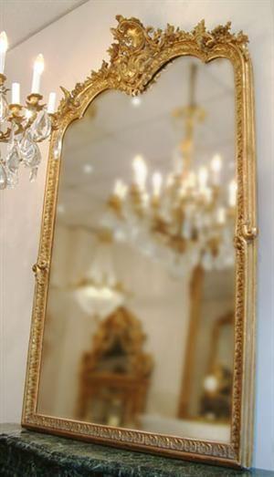 Miroir de style Louis XV, époque Napoléon III Mirror Marvels
