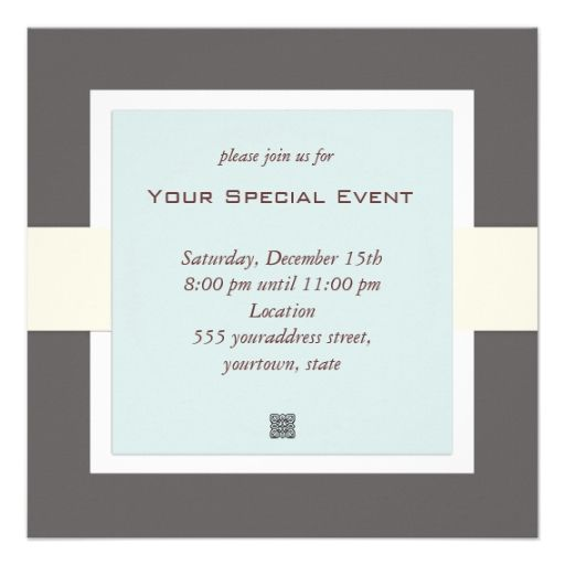 Clean And Simple Business Event Invitation Zazzle Com With