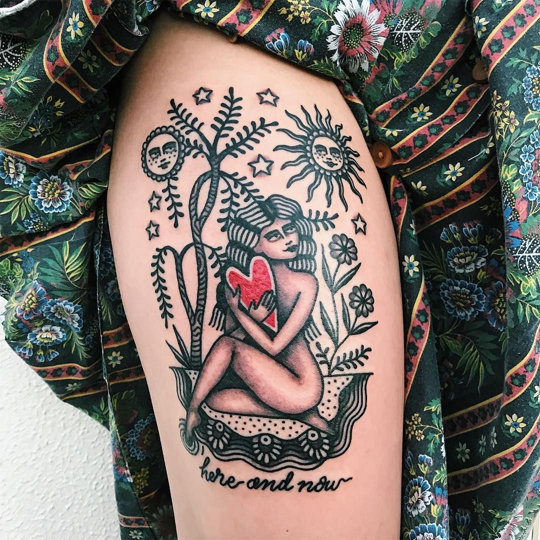 Tatuagem na coxa 120 ideias para você pensar na sua